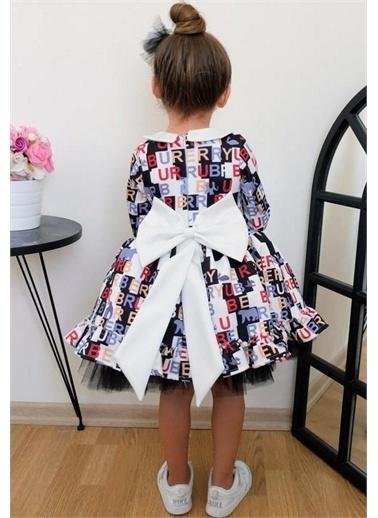 Riccotarz Kız Çocuk Long Arm Plaid Siyah Elbise Renkli